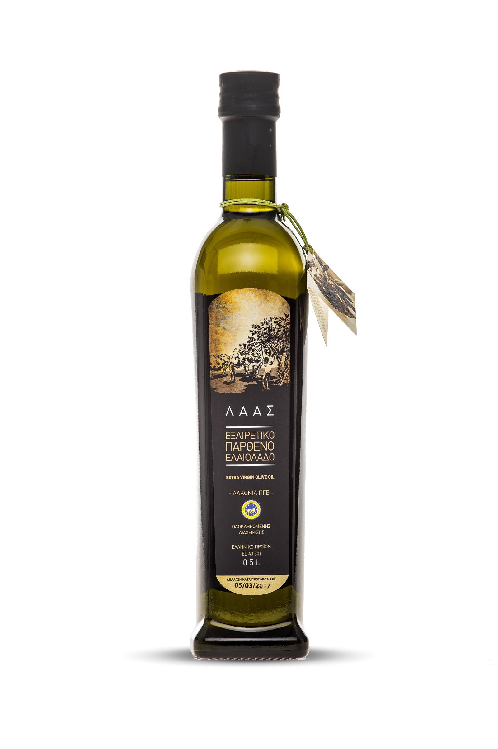 Extra virgin olive oil LAAS Bottle