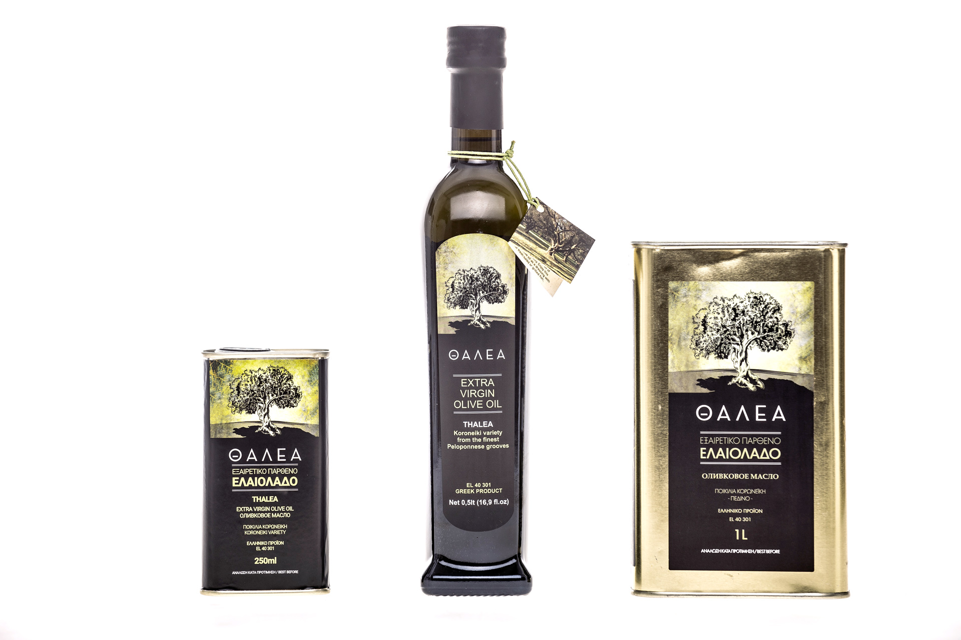 Extra virgin olive oil Thalea Bottles