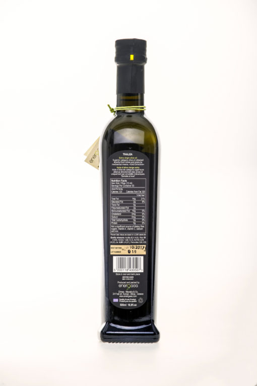 Extra virgin olive oil Thalea Bottle Label